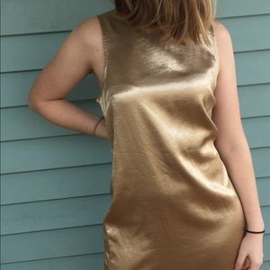 NWT Gold Iridescent Michael by Michael Kors Dress